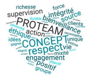 les valeurs de proteam concept